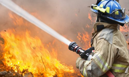 Fire Breaks Out on I-5 in San Ysidro, CA