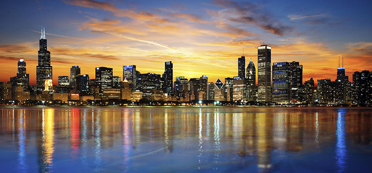 San Diego to Chicago, IL